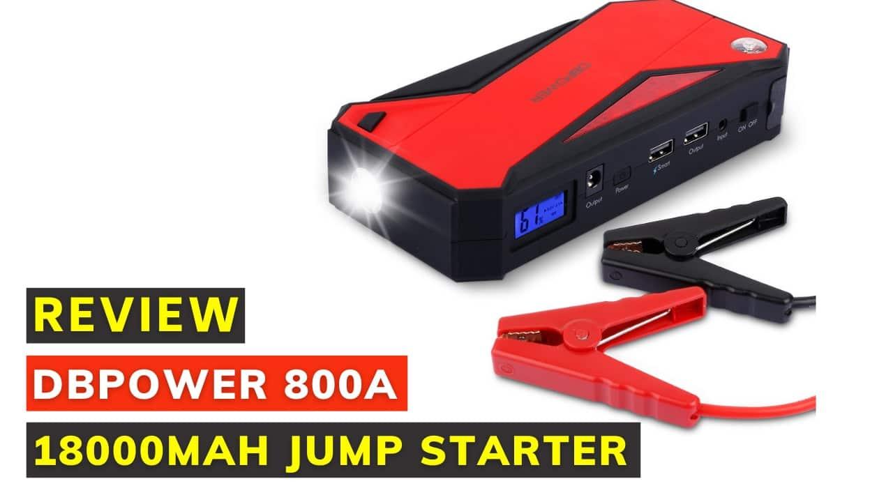 Dbpower 800a 18000mah portable car jump starter review