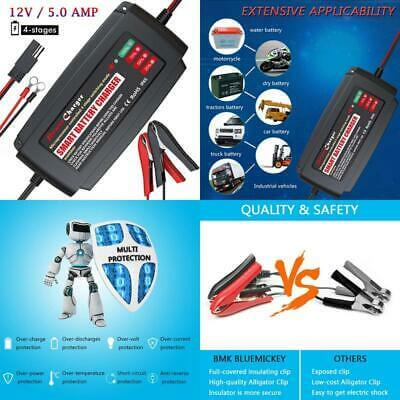 BMK 12V 5A Smart Battery Charger Portable Battery Maintainer-4