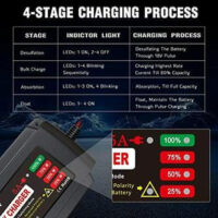 BMK V A Smart Battery Charger Portable Battery Maintainer