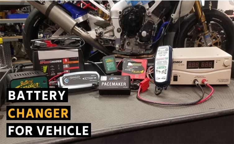 Battery changer for vehicle