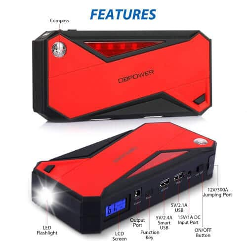 DBPOWER 1000A Portable Car Jump Starter_2