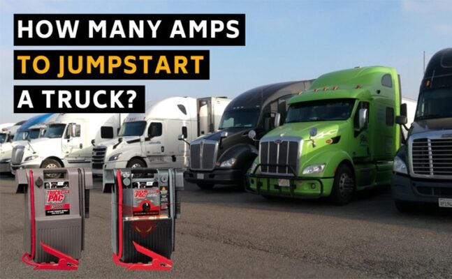 How Many Amps To Jumpstart A Truck