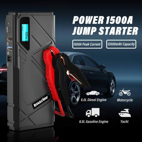 Imazing Portable Car Jump Starter - 1500A Peak-2