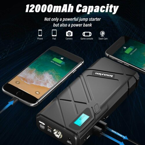 Imazing Portable Car Jump Starter - 1500A Peak-6