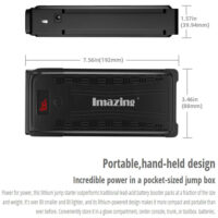Imazing Portable Car Jump Starter - 2500A Peak 20000mAH-1