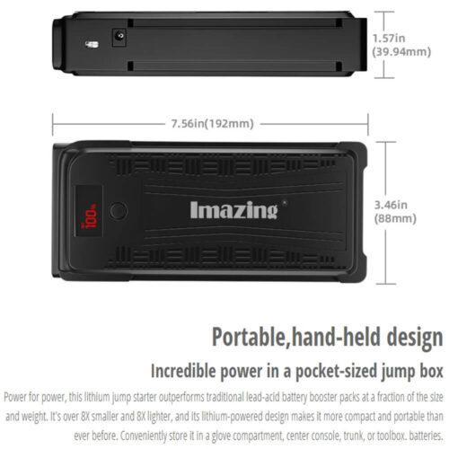 Imazing Portable Car Jump Starter - 2500A Peak 20000mAH-1