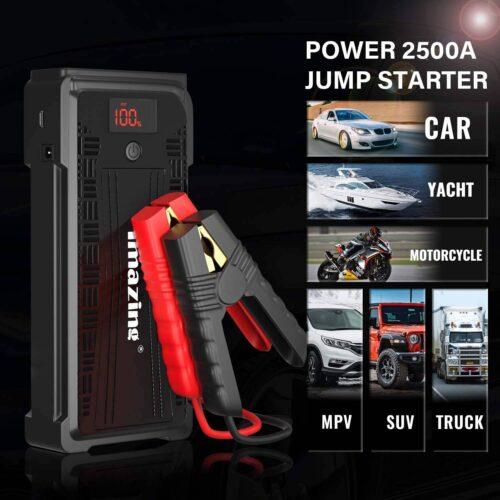 Imazing Portable Car Jump Starter - 2500A Peak 20000mAH-2