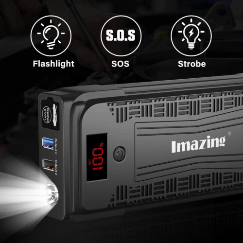 Imazing Portable Car Jump Starter - 2500A Peak 20000mAH-4