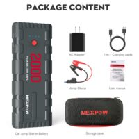 NEXPOW 2000A 18000mAh Car Jump Starter with USB Quick Charge 3.0-1
