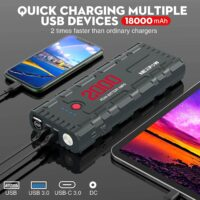 NEXPOW 2000A 18000mAh Car Jump Starter with USB Quick Charge 3.0-3