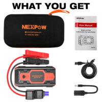 NEXPOW Battery Starter for Car, 2500A 22000mAh Portable Car Jump Starter-1