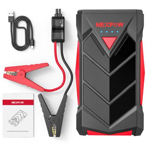 NEXPOW Car Battery Starter, 1000A Peak 12V Car Battery Jump Starter-1