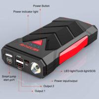 NEXPOW Car Battery Starter, 1000A Peak 12V Car Battery Jump Starter-3