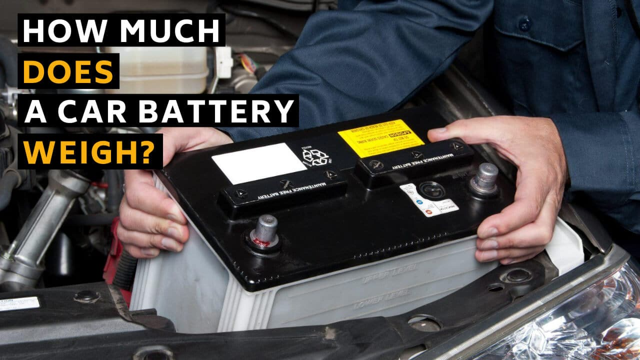 a car battery weigh
