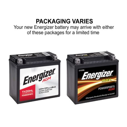 Energizer TX20HL AGM Motorcycle and Atv 12V Battery-3