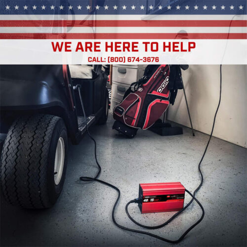 FORM  AMP EZGO RXV TXT Battery Charger for  Volt Golf Carts