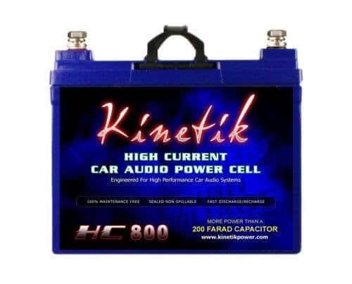 Kinetik HC800 BLU 800W 12V High Current AGM Car Audio Battery