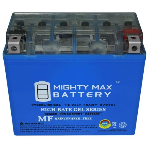 Mighty Max Battery YTX20L-BS Gel 12V 18AH Motorcycle Battery-1