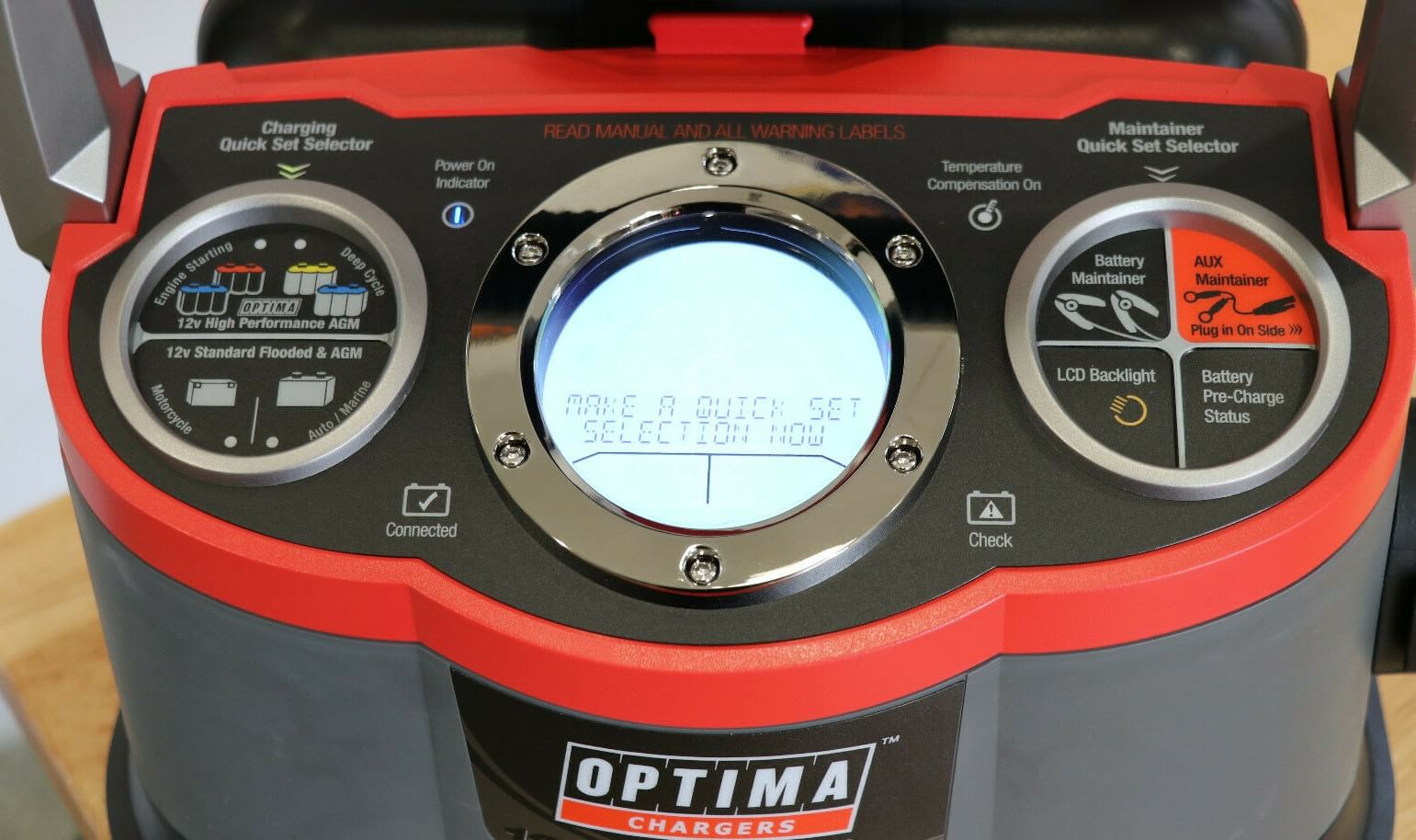 Optima Digital 1200 12V Performance Battery Charger LCD