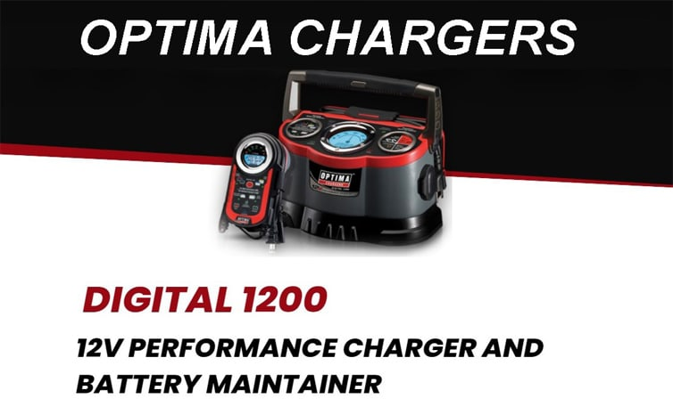 Optima Digital 1200 12V Performance Battery Charger and Maintainer