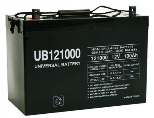 Universal Power Group V Ah AGM SLA DEEP Cycle Battery