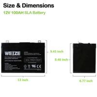 Weize 12V 100AH Deep Cycle AGM SLA VRLA Battery-1