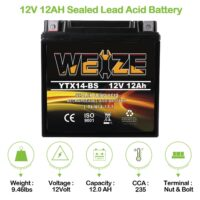 Weize YTX14 BS ATV Battery High Performance-2