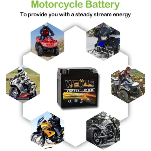 Weize YTX14 BS ATV Battery High Performance-3