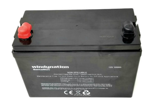 WindyNation 100 amp 12 Volt AGM Deep Cycle Sealed Lead Acid Battery-2