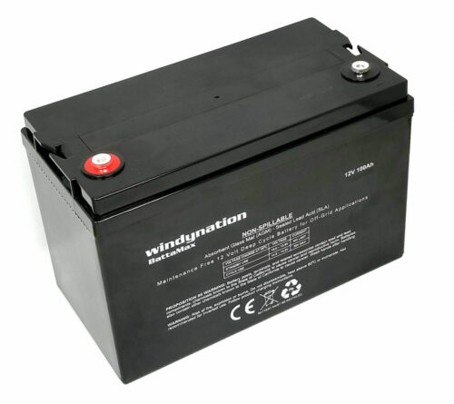 WindyNation 100 amp 12 Volt AGM Deep Cycle Sealed Lead Acid Battery