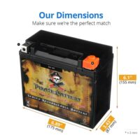 YTX20L-BS High Performance Power Sports Battery-1