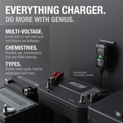 NOCO GENIUS1, 1-Amp Fully-Automatic Smart Charger, 6V And 12V Battery Charger-1