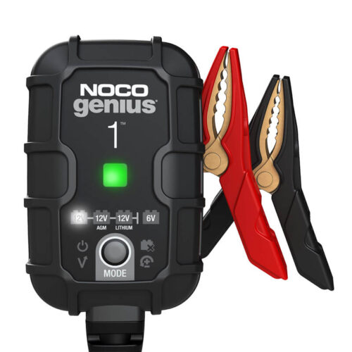 NOCO GENIUS1, 1-Amp Fully-Automatic Smart Charger, 6V And 12V Battery Charger