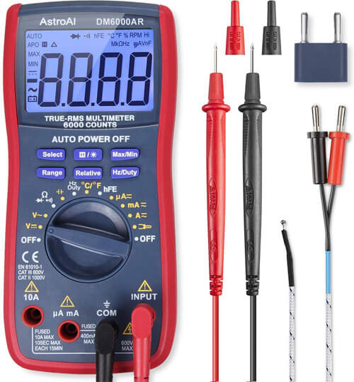 AstroAI Digital Multimeter, TRMS 6000 Counts Volt Meter