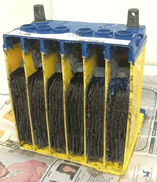 A cross section battery