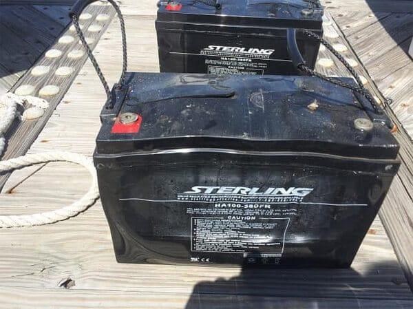 A swollen battery case
